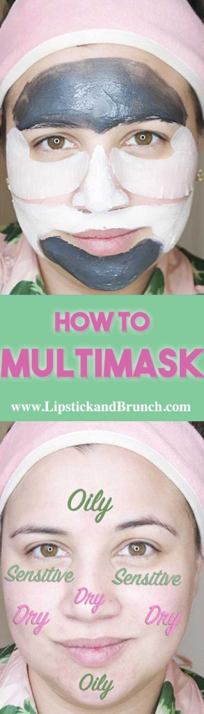 Multimasking is great for combination skin because it targets different problem areas and treats every need. Multimasking is easy and I bet you already have what you need at home.
