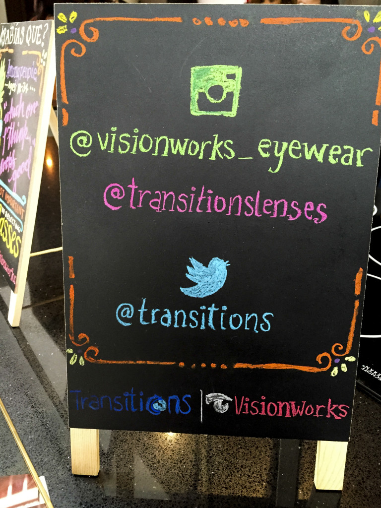 Visionworks and Transitions Lenses on Social Media