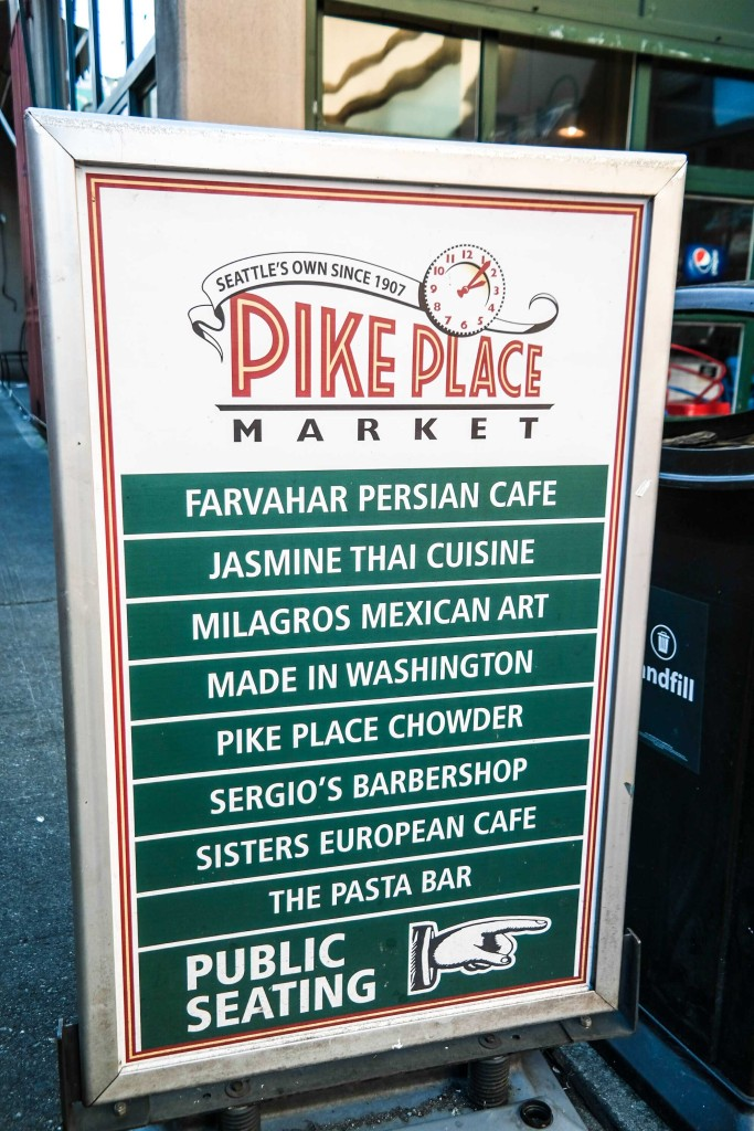 The famous Pike Place Market in Seattle
