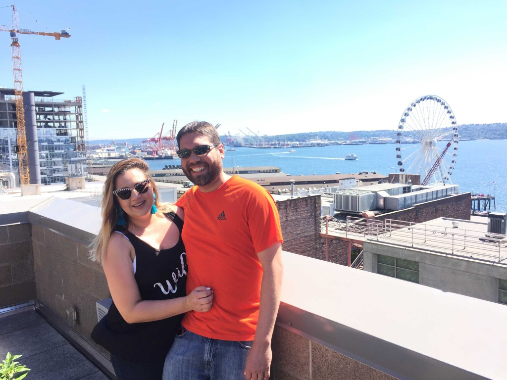 Loving the Seattle weather with Miguel!