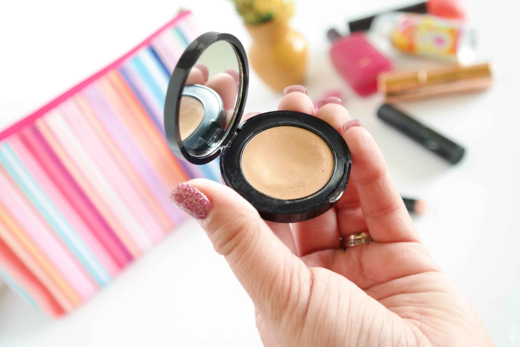 This powerful concelelar by Estee Lauder is tiny and has a mirror and it's my favorite