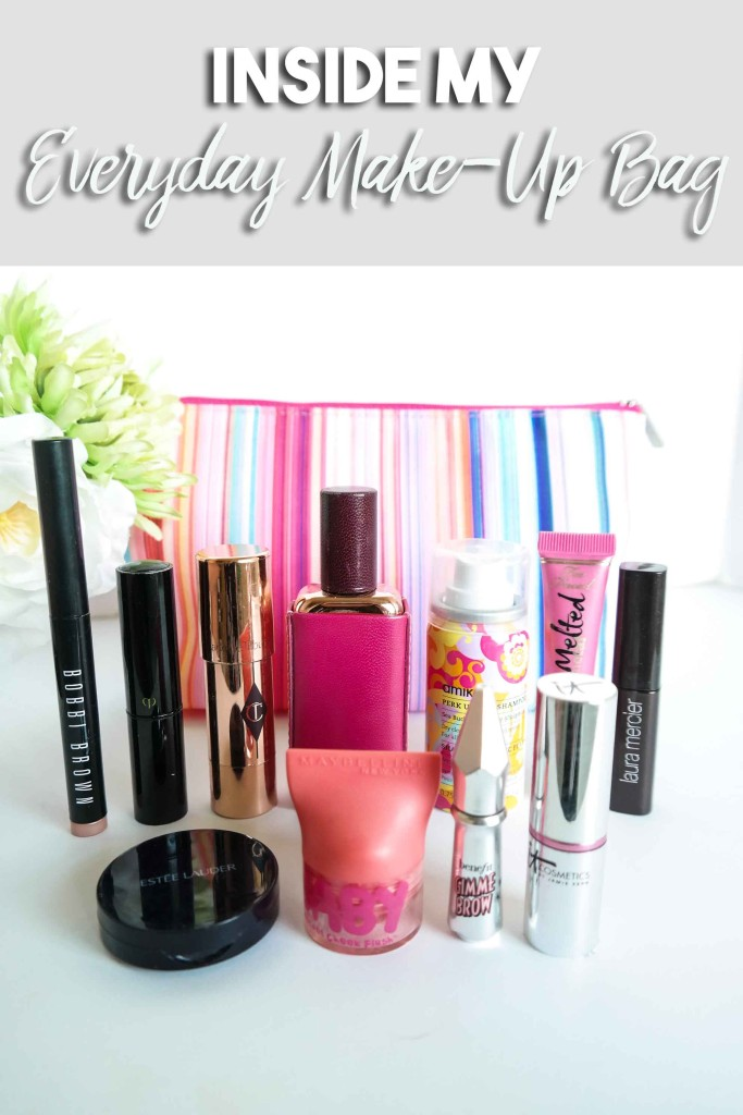 Check out what's inside my everyday make-up bag!