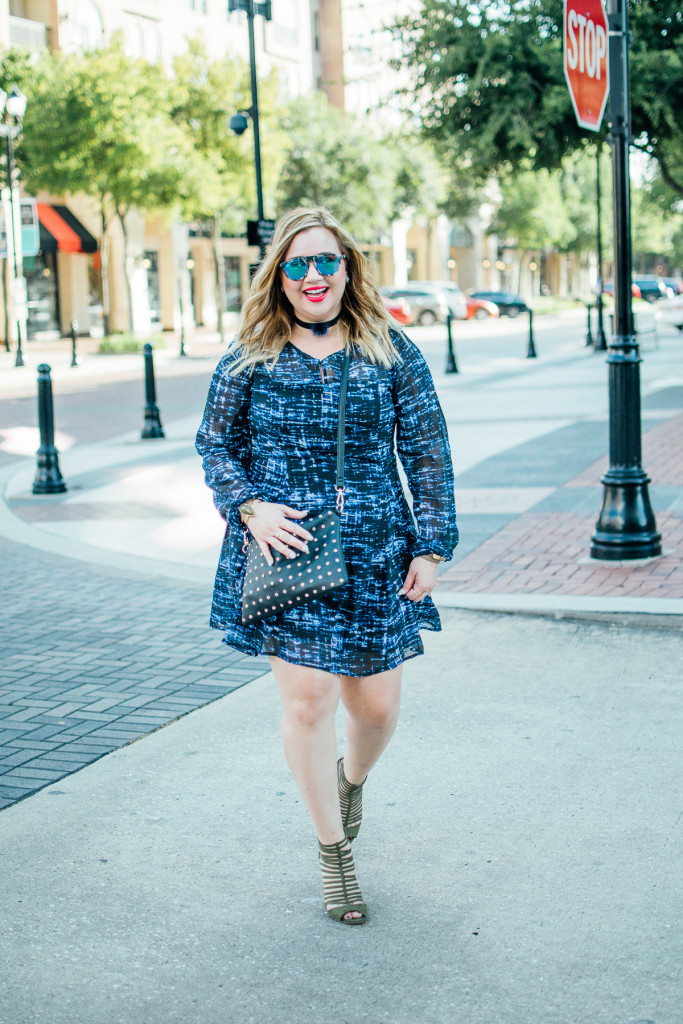 The perfect dress from Charming Charlie to transition from summer to fall.