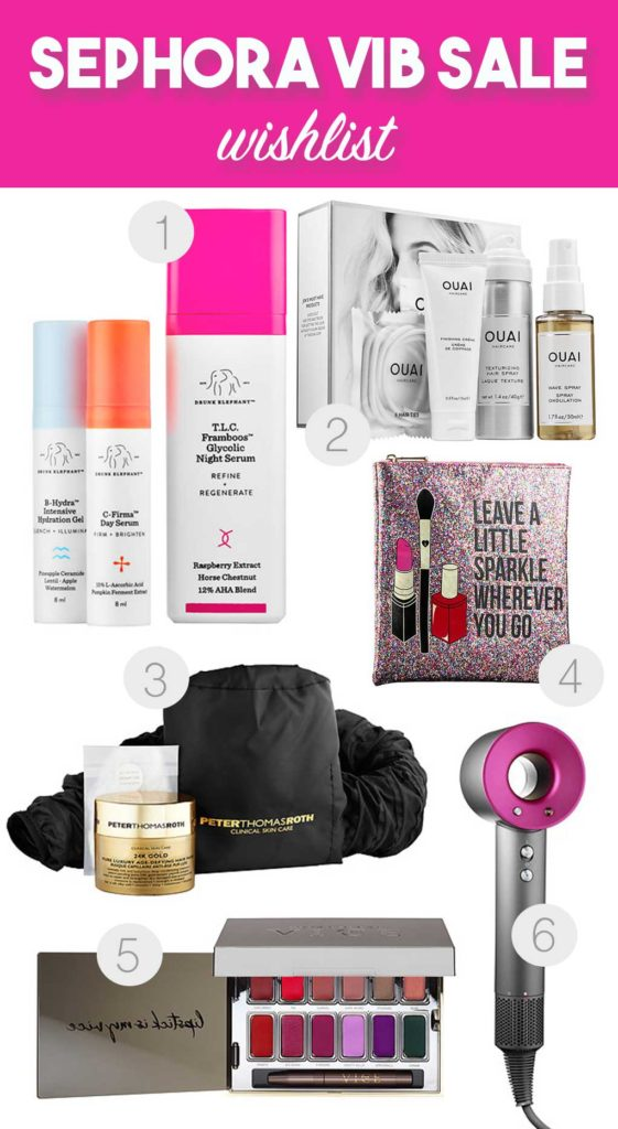 Sephora VIB Sale - My weishlist includes soem outrageous ptroducts like a 24K Gold Hair Mask and a Supersonic Hair Dryer