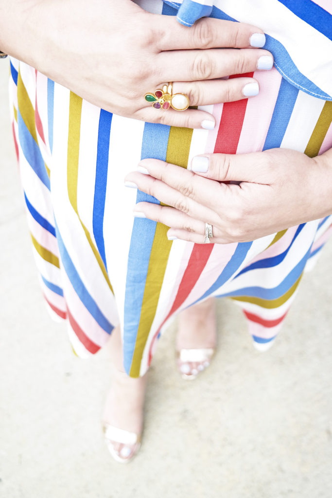 30-Week-Bumpdate-and-ASOS-Striped-Off-The-Shoulder-Dress-Lipstick-and-Brunch