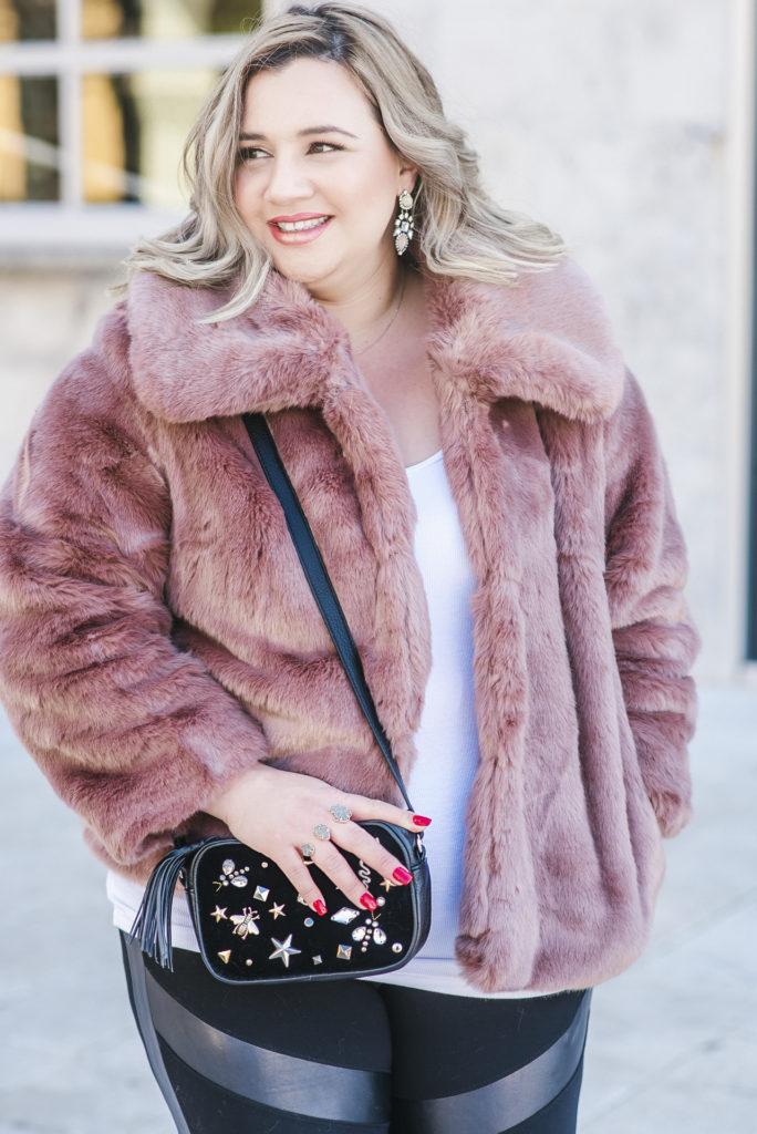 Target Pink Faux Fur Coat 001