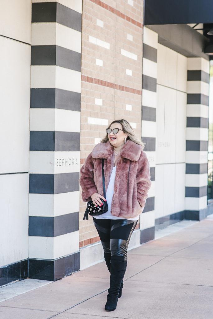 Target Pink Faux Fur Coat 003