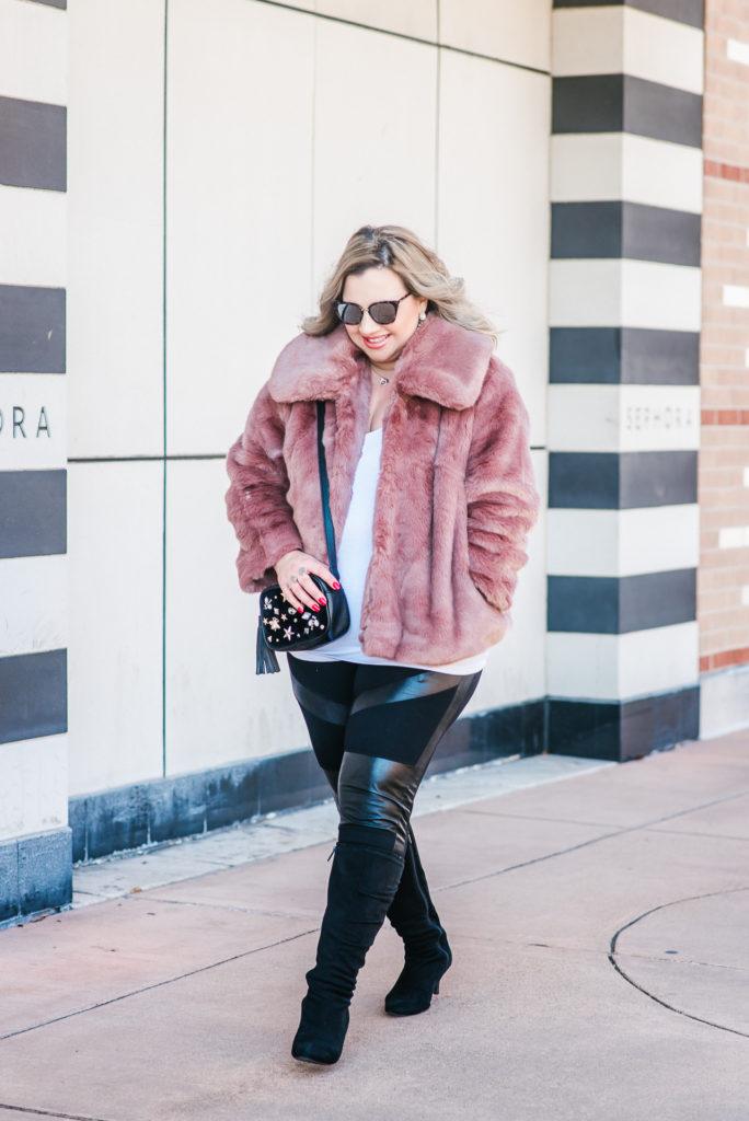 Target Faux Fur Pink Coat
