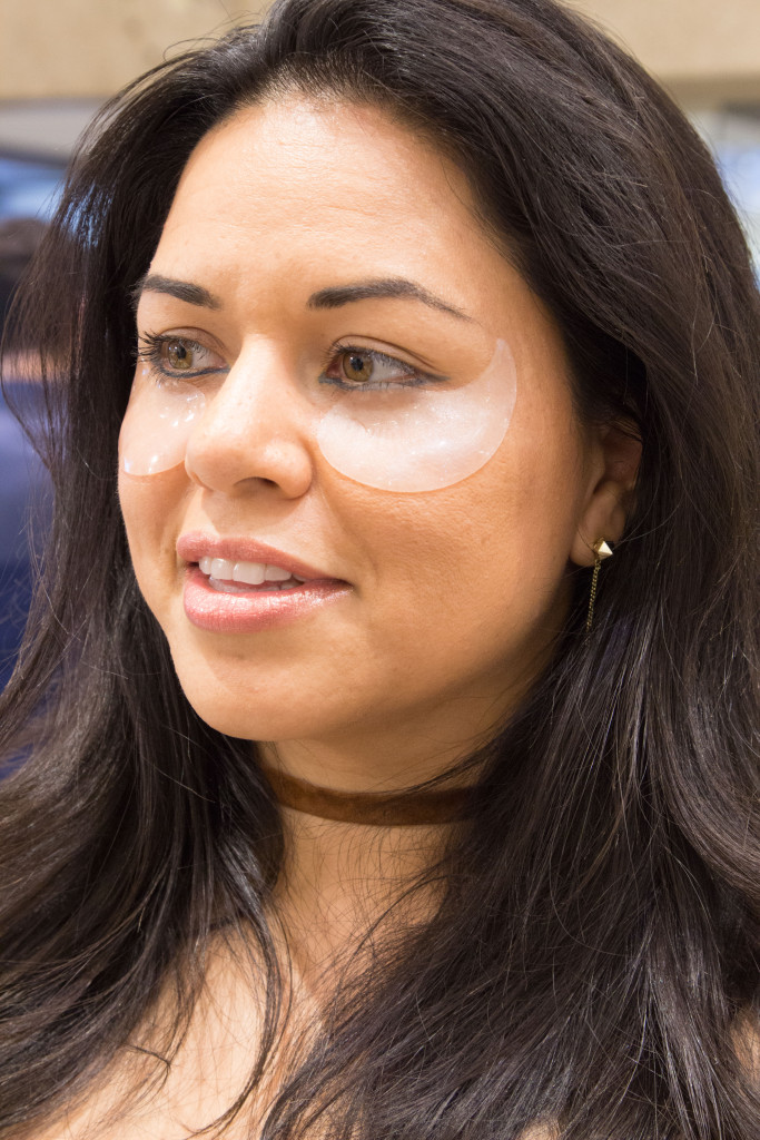 Damari-trying-out-the-Patchology-eye-gels