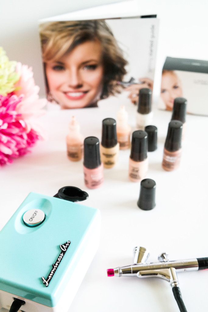 The Luminess Air airbrush system is portable, colorful and can even be stashed in your cqarry-on bag when traveling and is also great for every-day use.