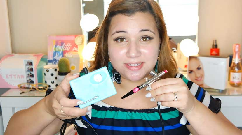 Luminess Air Airbrush System Demo Review Lipstick Brunch
