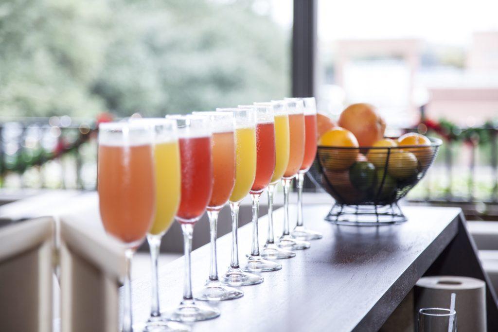 Upstairs Fresh Juice Mimosas