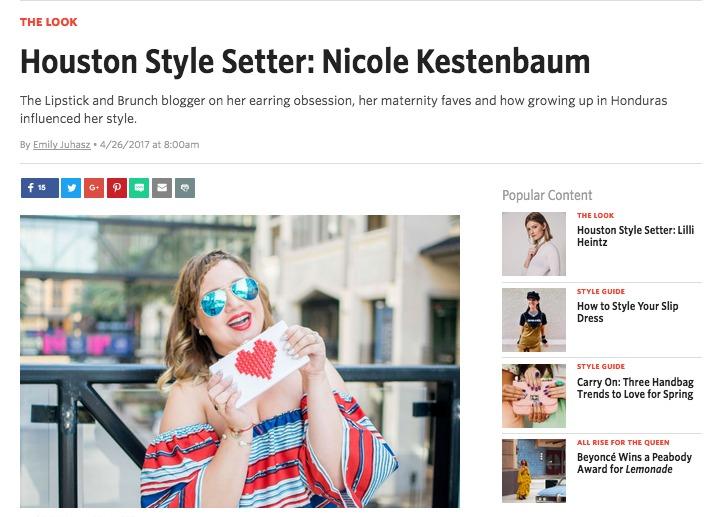 Houstonia - Houston Style Setter-Nicole Kestenbaum