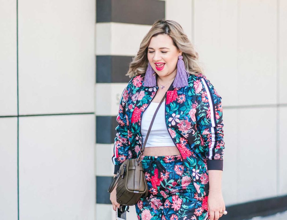 7ed582c6927f How I Shop at JCPenney + Styling a Floral Track Suit - Lipstick   Brunch