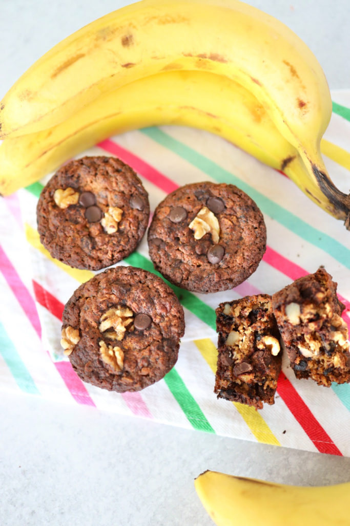 diabetic friendly banana nut muffins